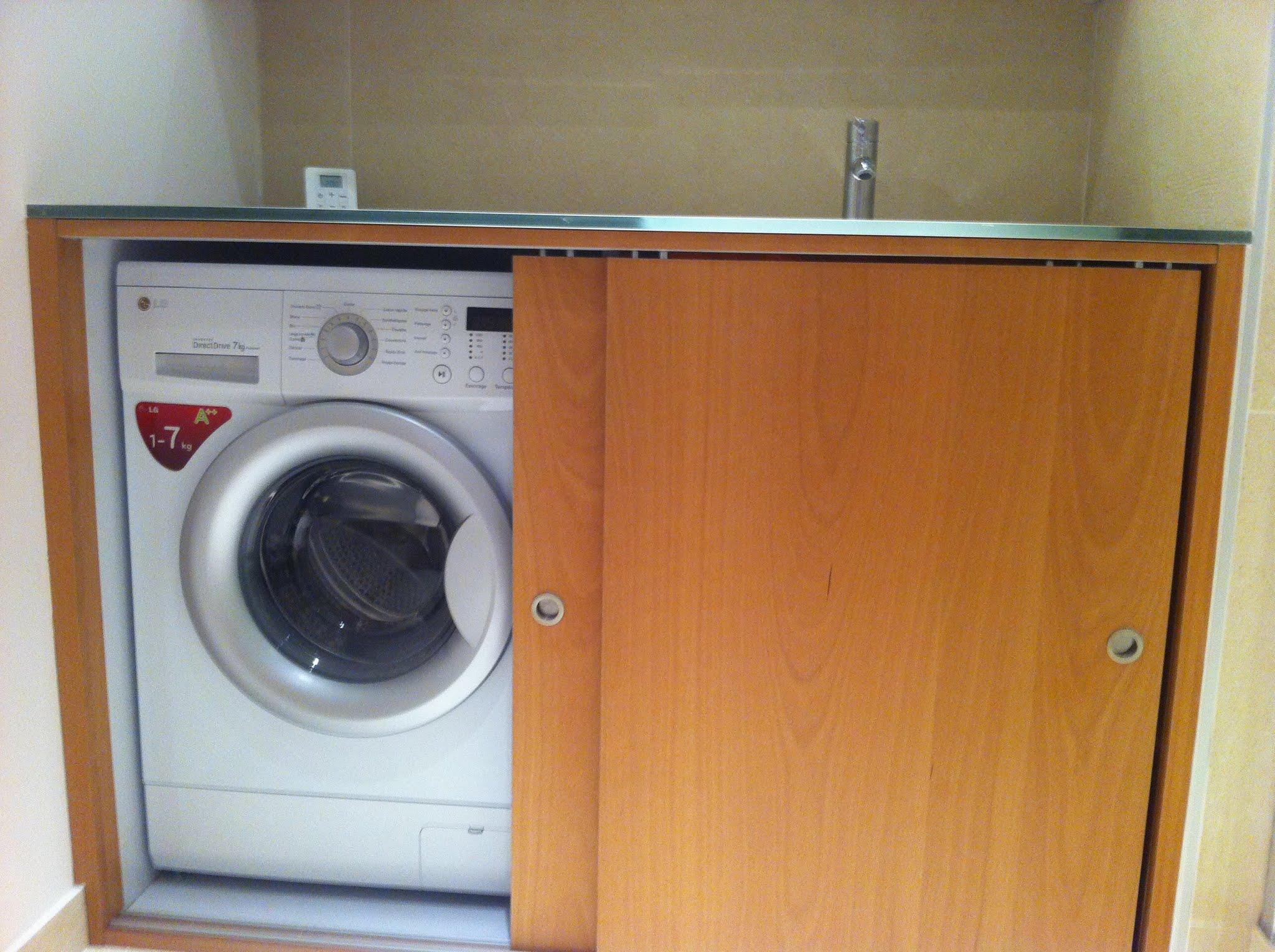 R novation d 39 une salle de bain avec lave linge dans meuble - Meuble pour lave linge encastrable ikea ...
