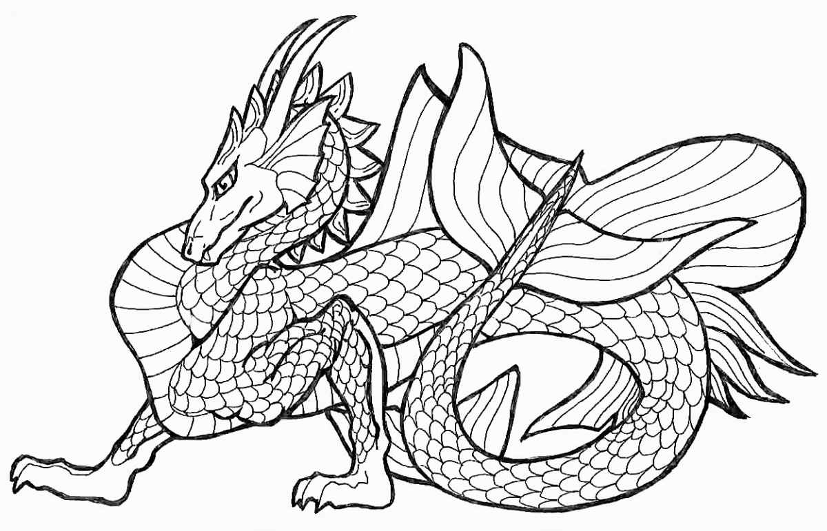 Dragon Coloring Pages Animals ColoringPedia - free printable dragon coloring pages