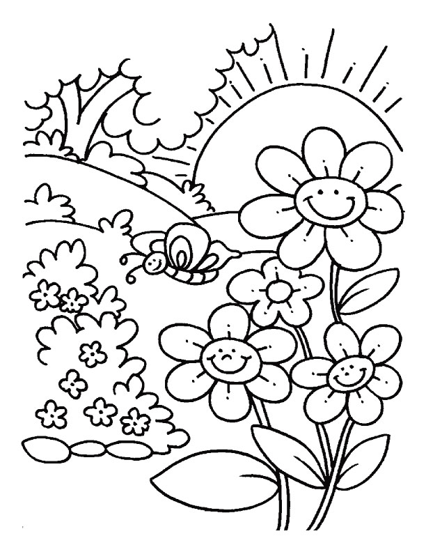 pictures of flowers coloring pages - Botanical Beauty Flower Coloring Pages for Adults Flower