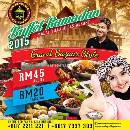 buffet ramadhan Restoran Malay Village 2015