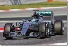 Nico Rosberg nei test di Barcellona 2015