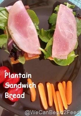 Plantain Sandwich Bread
