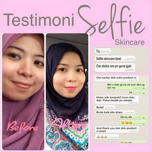 testimoni selfie skincare
