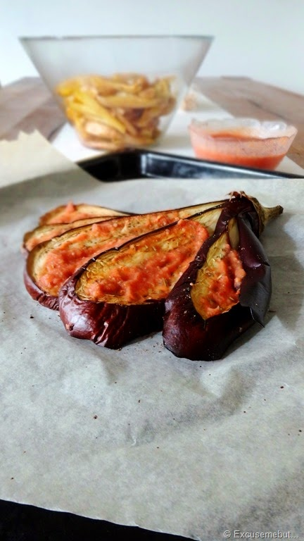 Roasted Eggplant and Tomato Bean Dip