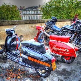 Lambretta by Heather Ryder - Transportation Motorcycles ( tonemapped, motorbike, bikes, lambretta, scooter )