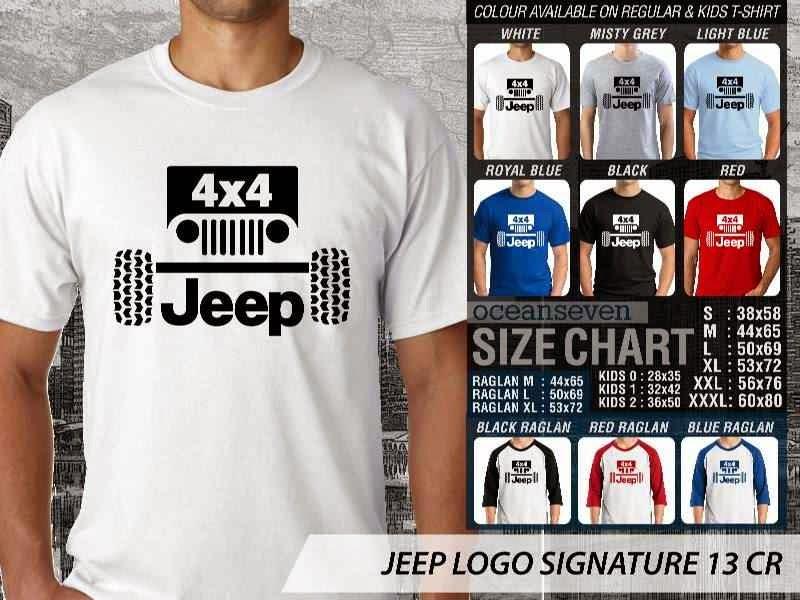 jual kaos jeep Logo Signature 13 4 X 4 distro