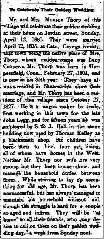 THORP_Mr&Mrs Monson celeb 50 yrs married_SkanFreePress_4 Apr 1885_col 3_cropped