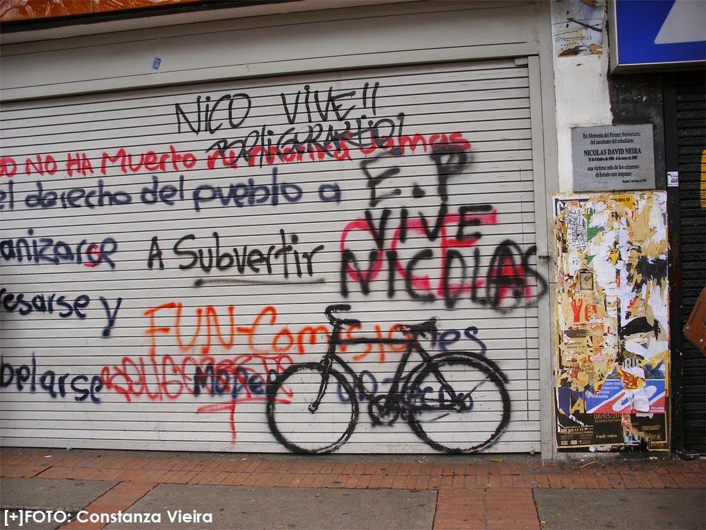 Recuerdo inmortal del asesinato del estudiante Nicolás Neira