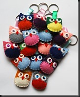More Felt Keyrings