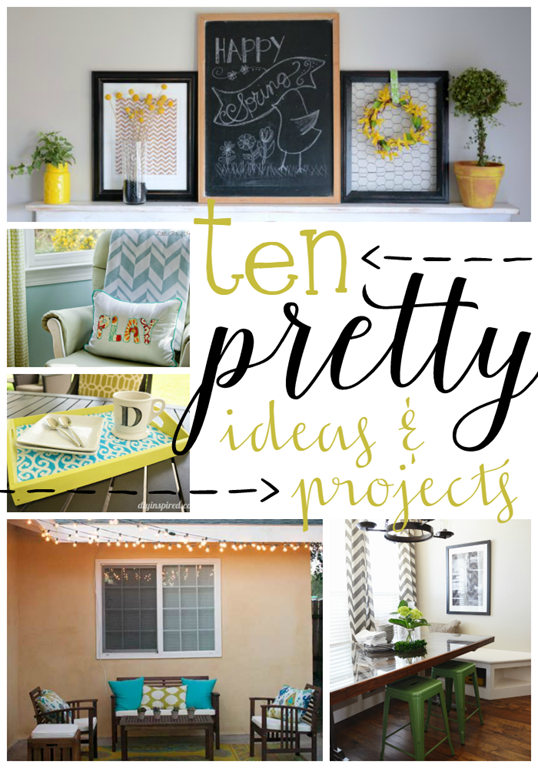 10 Pretty Ideas & Projects at GingerSnapCrafts.com #linkparty #features