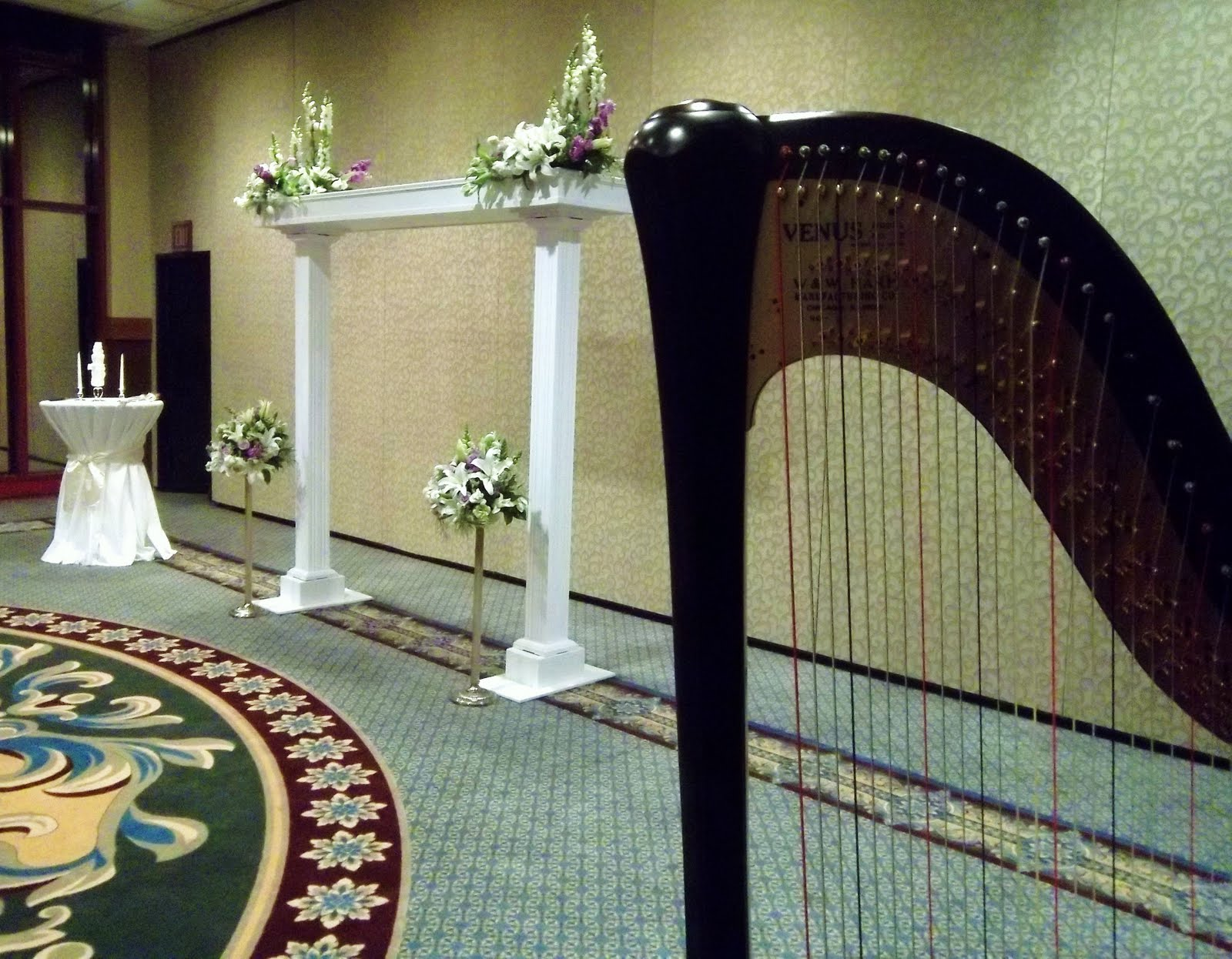 black white and purple wedding