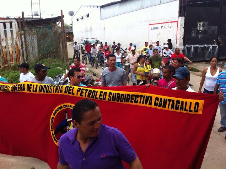 Protestas de la comunidad por recortes de personal en campo Cantagallo