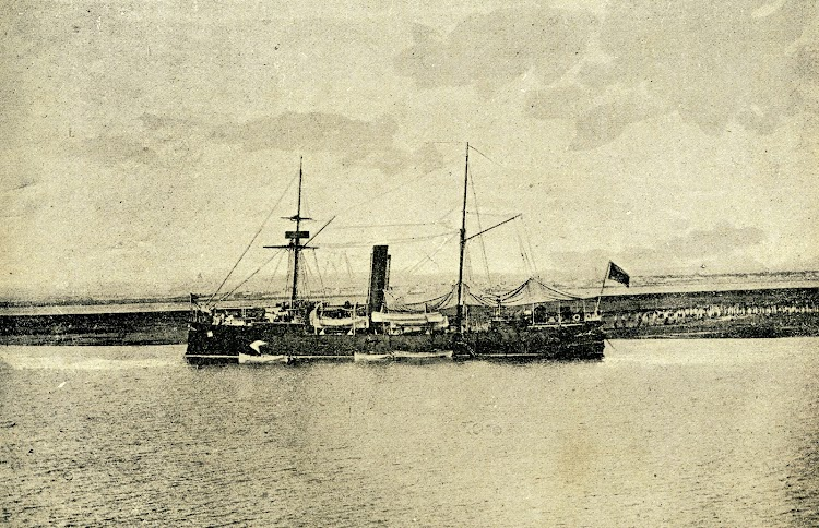 Crucero MARQUES DE LA ENSENADA. Foto de la revista LA NATURALEZA. AÑO 1894.jpg