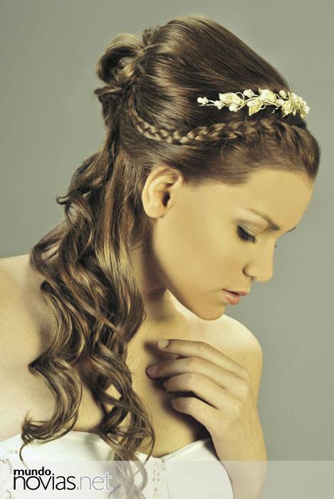 Peinados de novia peinados faciles y elegantes para bodas - Peinados elegantes para una boda ...
