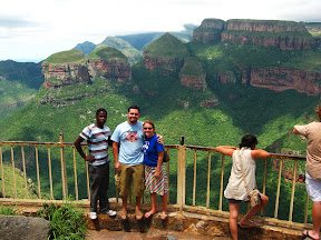 Here we are with my friend Nkosinathi touring up and down the Blyde River Canyon.