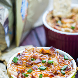 Lighter Hot Caramelized Onion and Bacon Dip