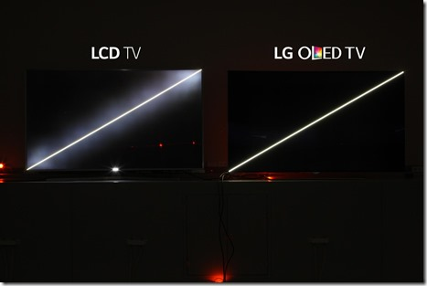 OLED-teknologiassa ero erottuu selkeästi