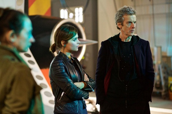 Peter Capaldi and Jenna Coleman in Doctor Who Under the Lake