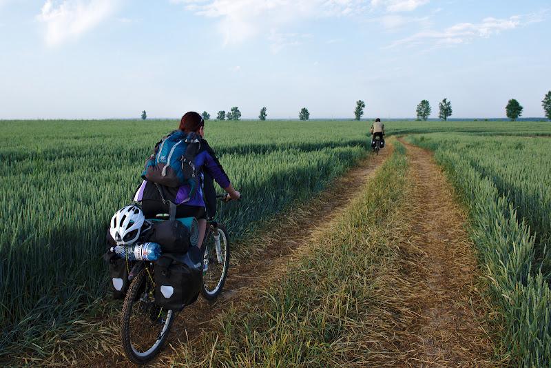 De veghe pe bicicleta.