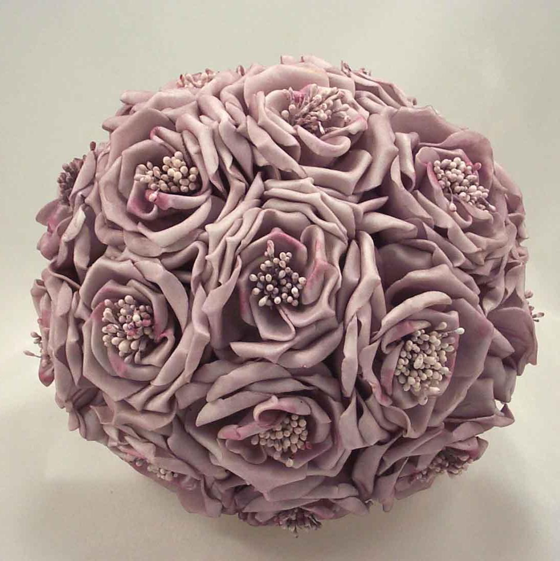 Lilac Wild Rose Bridal Bouquet