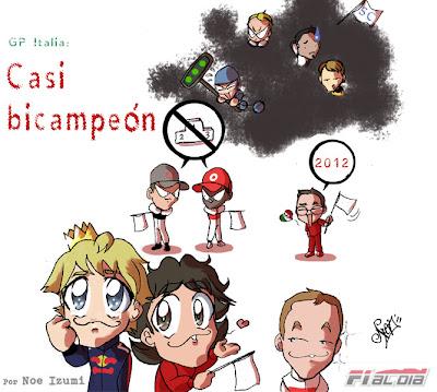 анимешная картинка Noe Izumi по Гран-при Италии 2011 в Монце