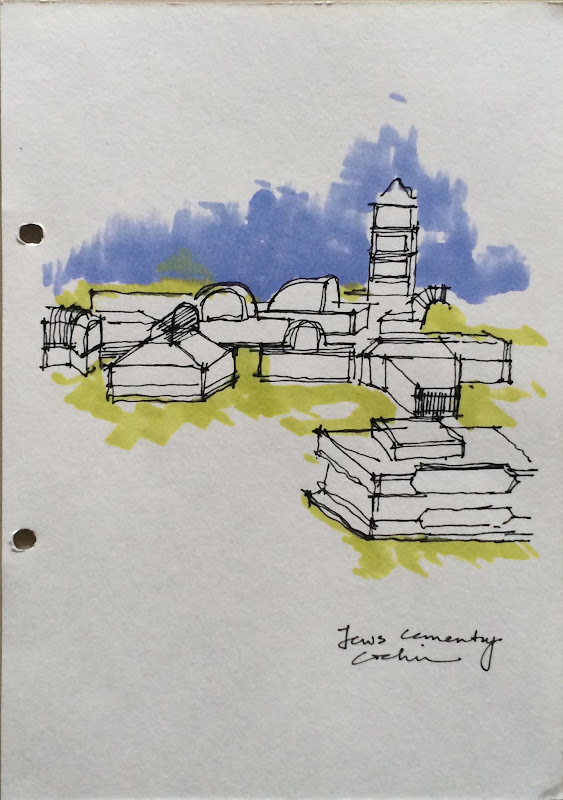 Jews cemetery at Biennale Kochi
