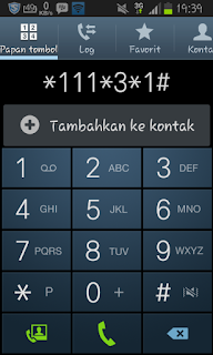 Screenshot cek kuota 3 via Dial phone
