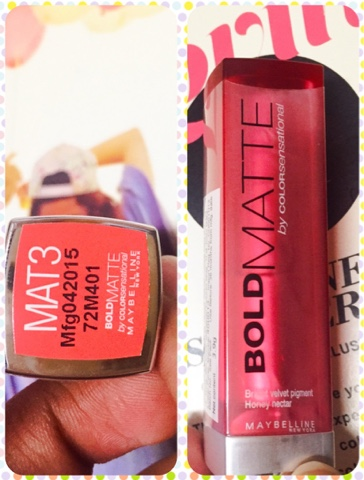 BOLD MATTE  by colorsensational Maybelline in MAT3