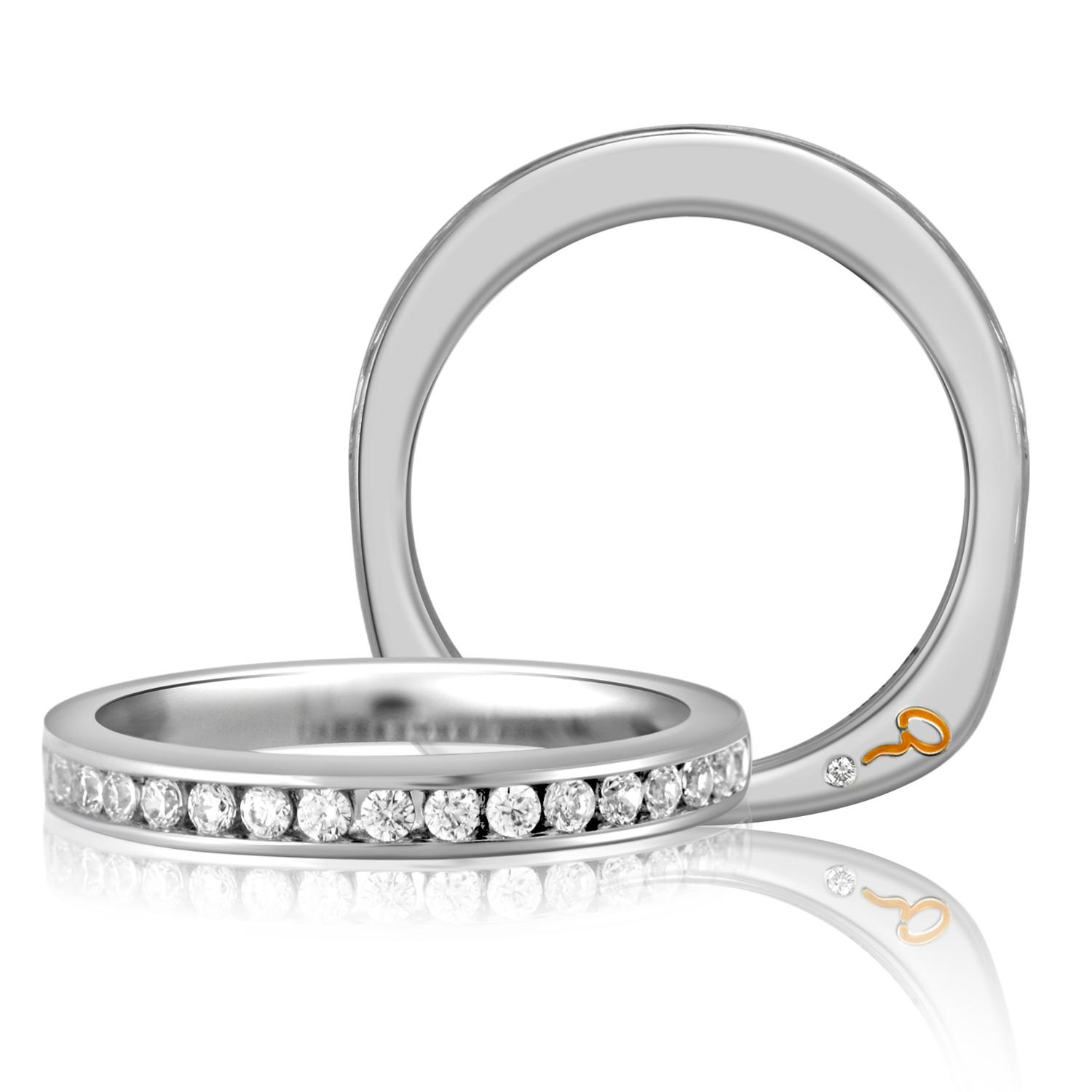 A. Jaffe Diamond Wedding Ring 18K
