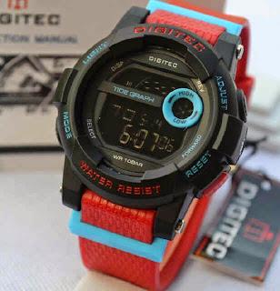 Jual jam tangan Digitec DG2074 4lady Red rubber blue