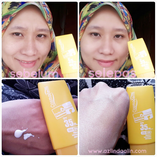 COSMODERM PERFECT SUNSCREEN + FLAWLESS FOUNDATION SPF 35+ UVA UVB