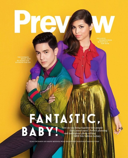Alden Richards and Maine Mendoza for Preview November 2015 1