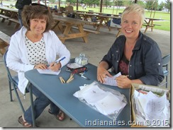 Inscribing family quilt squares is a labor of love  for everyone.  We know that next year's quilt will include every one of them, along with some special ones made by Peg Stull as she completes the quilt design.