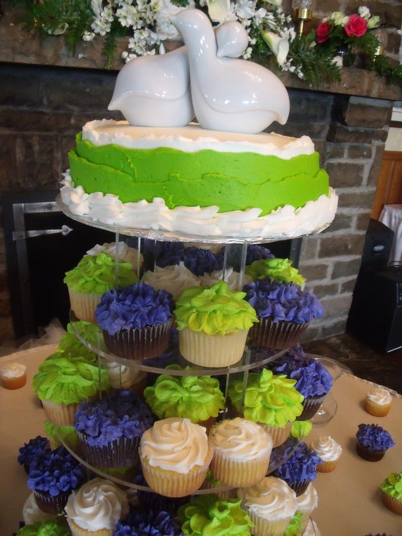 Lime Green l And Purple Cupcakes