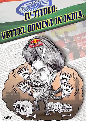 Себастьян Феттель доминирует в Индии - комикс Baffi по Гран-при Индии 2013