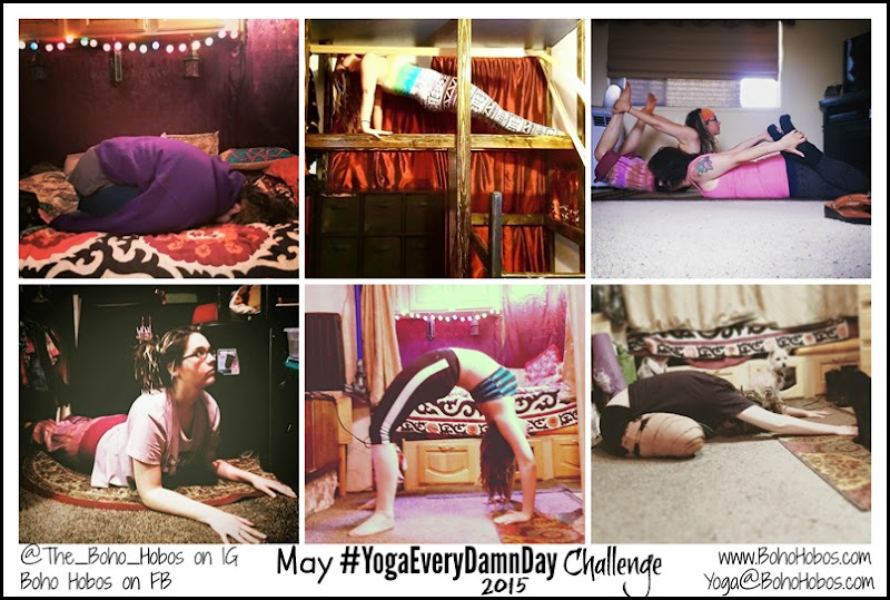 May Yoga Collage