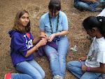 Scouts con un taller sobre la buena acción