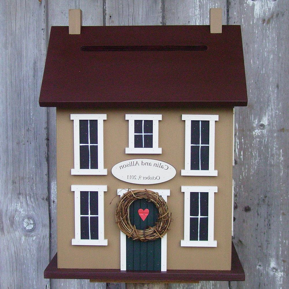 Original -Wedding Card Box Birdhouse Personalized - Choose your Colors.