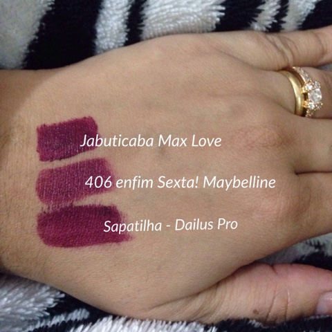 jabuticaba Max love, Enfim Sexta! Maybelline, Sapatilha Dailus PRO