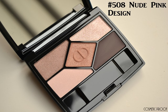 Diorshow 5 Couleurs Designer Nude Pink Design Eyeshadow Palette Review Swatches  (1)