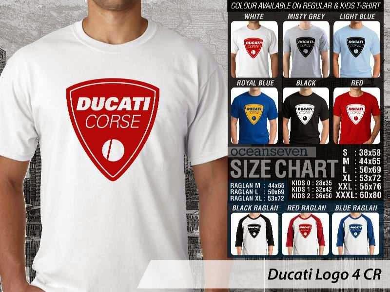 KAOS Ducati 5 Logo Otomotif distro ocean seven