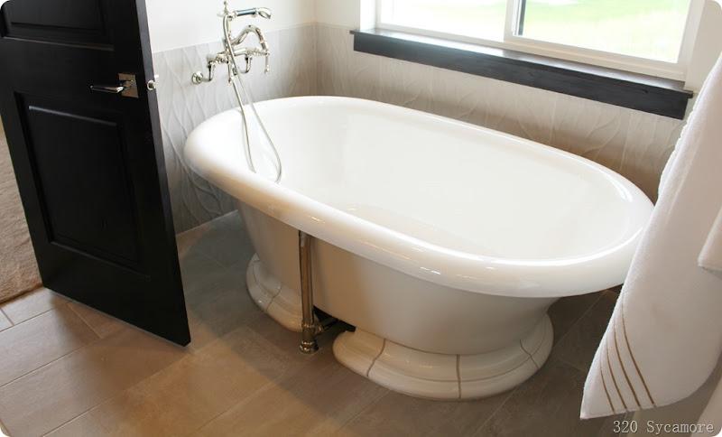 modern oval tub