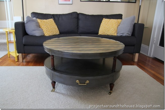 Chevron coffee table redo