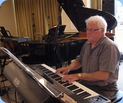 Rod Moffat playing his Korg Pa3X (76). Photo courtesy of Dennis Lyons.