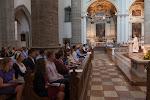 Celebrating Mass at the Franzikanerkirche