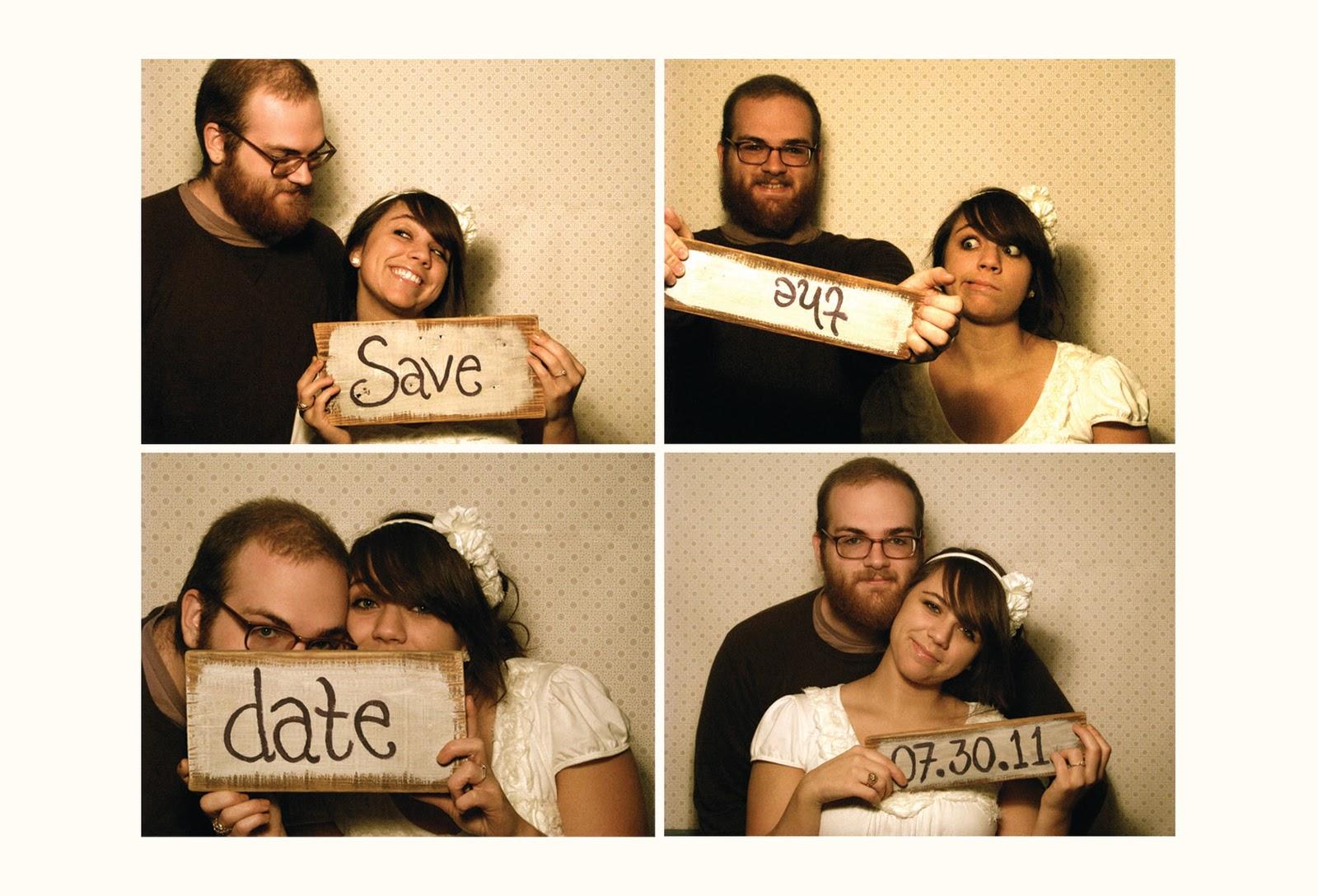 homemade wedding photo booth