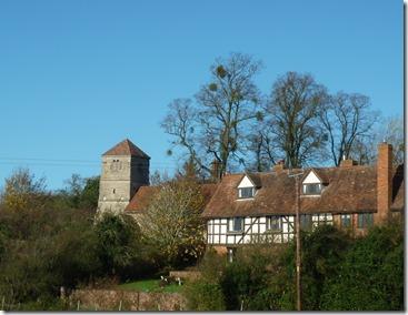 5 oddingley church and mistletoe