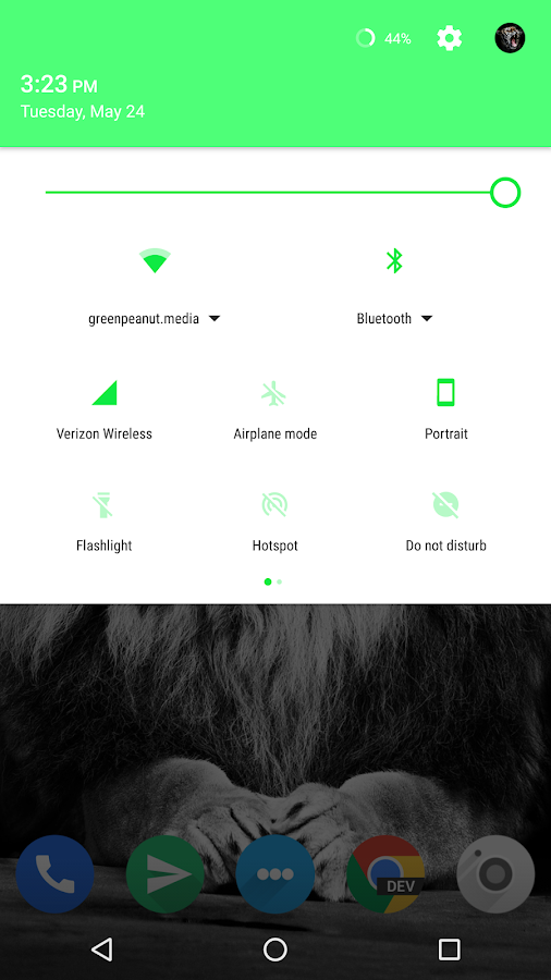 Arzia Light CM Theme - Green Screenshot 1