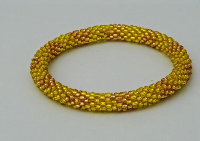 solid yellow bracelets
