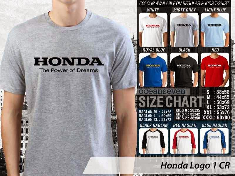 KAOS Honda Logo Otomotif distro ocean seven